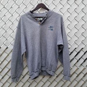 Vintage 90s Sea World grandpa pullover sweater L